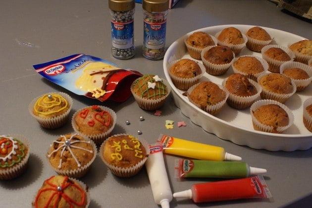 muffinki z polewą