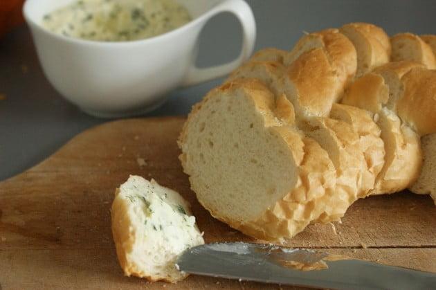 Masło ziołowo – czosnkowe