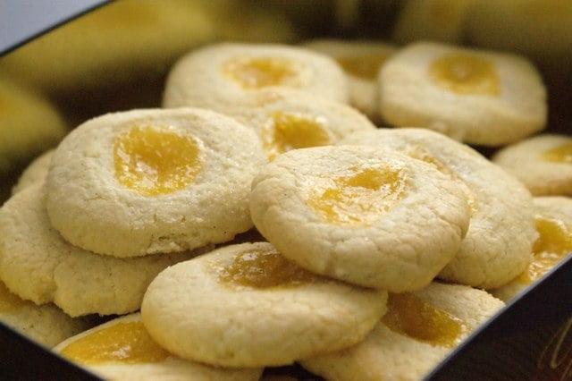 maślane ciasteczka z galaretką