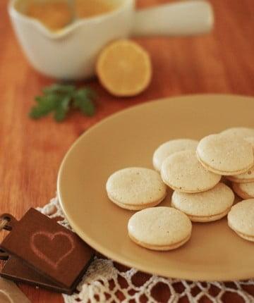 Makaroniki z lemon curd bez masła
