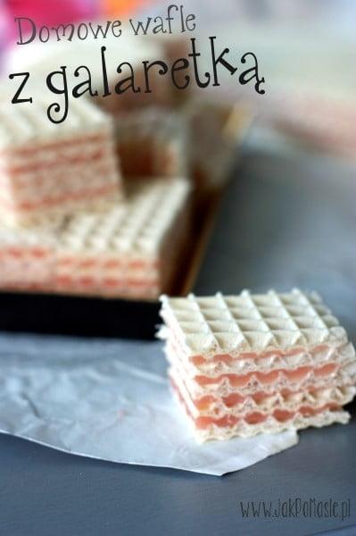 domowe wafle z galaretką
