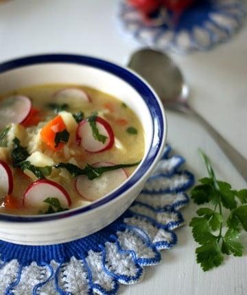 zupa z rzodkiewką