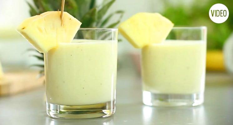 Niebanalne śniadanie – Koktajl ananasowy z serkiem wiejskim :)