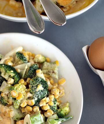 sałatka z brokuła z jajkiem