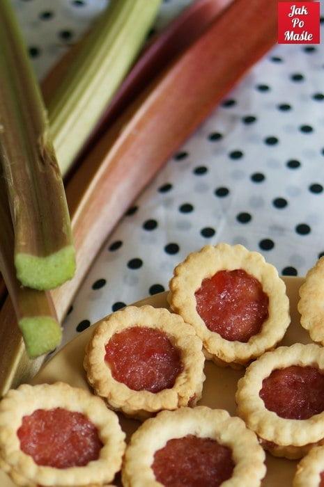 ciasteczka z rabarbarem