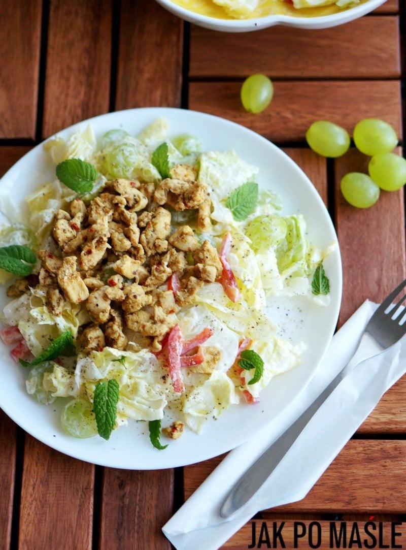 salatka z winogron i kurczaka 3