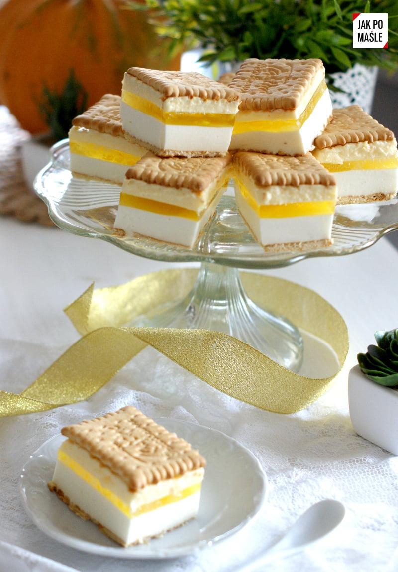 ciasto cytrynowe kostka