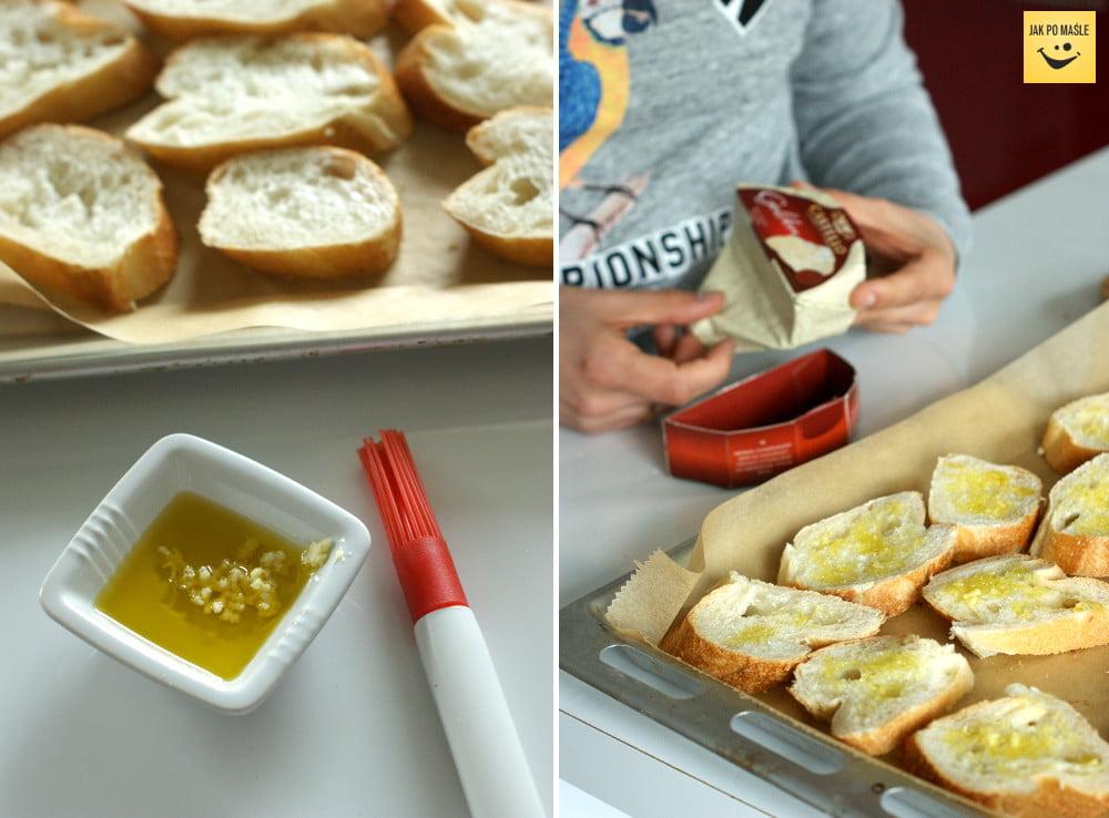 grzanki z serem pleśniowym