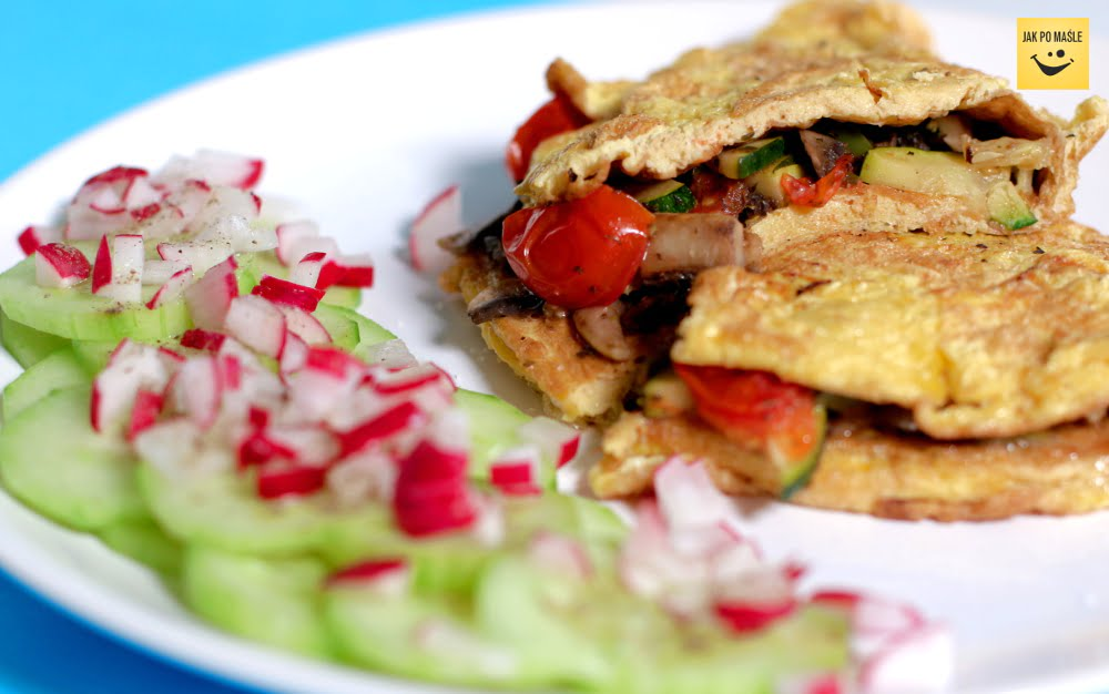 przepis na omlet z warzywami