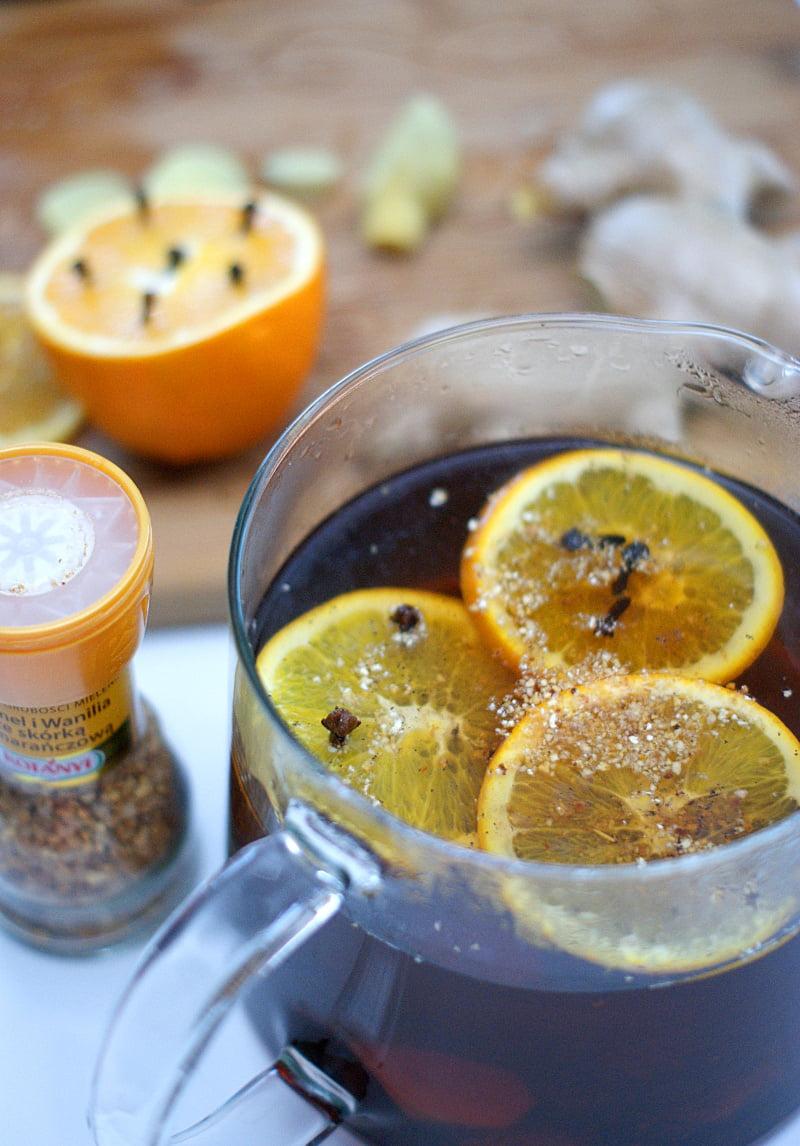 przepis na rozgrzewającą herbatę z imbirem