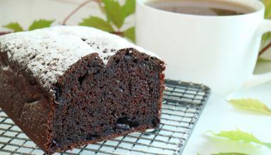 Ciasto czekoladowo-bananowe z jagodami. Pyszne!