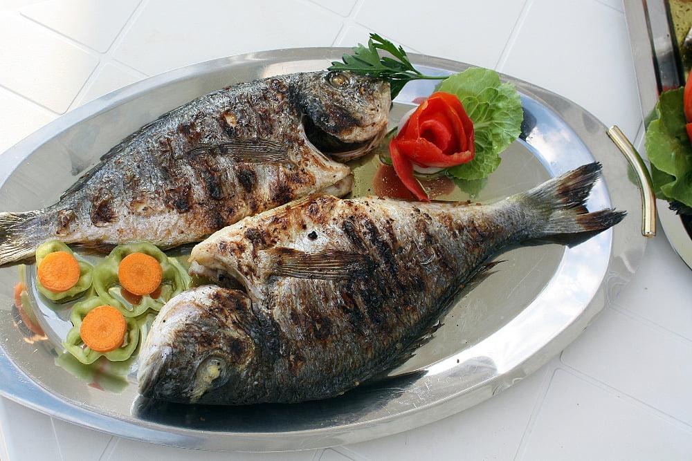 grillowana ryba leszcz