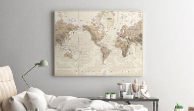 Mapa świata na ścianie – oryginalna dekoracja, którą Cię zaskoczy